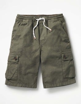 Terrain Green Pull-on Cargo Shorts