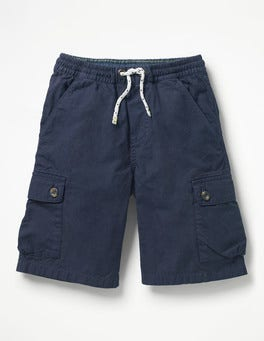 School Navy Pull-on Cargo Shorts