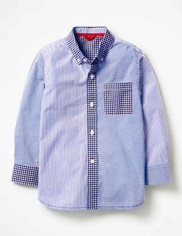Orion Blue Hotchpotch Hotchpotch Laundered Shirt