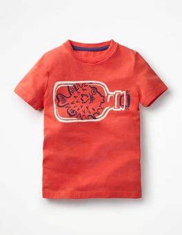 Melon Crush Red Pufferfish High Seas T-shirt