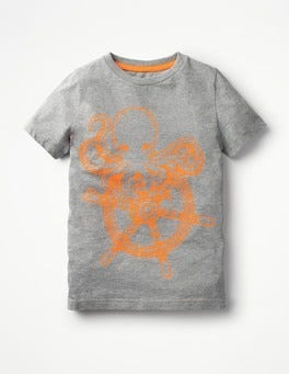Grey Marl Octopus High Seas T-shirt