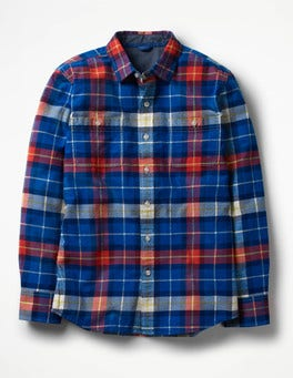 Skipper Blue/Soft Red Cosy Check Shirt