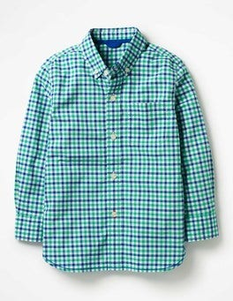 Astro Green/Blue Multi-Gingham Laundered Shirt