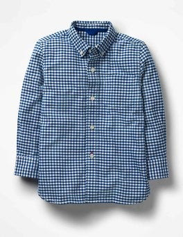 Orion Blue Gingham Oxford Shirt