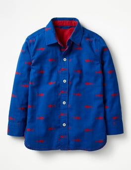 Orion Blue/Salsa Red Sharks Double Cloth Shirt