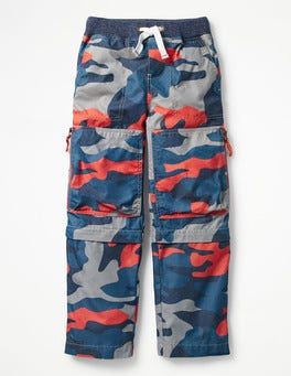 Melon Crush Orange Camo Zip-off Techno Pants