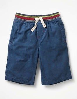 Overboard Blue Rib Waist Shorts
