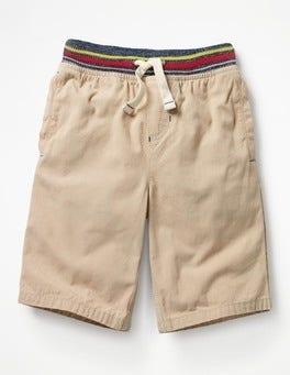 Stone Beige Rib Waist Shorts