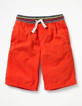 Ziggy Red Rib Waist Shorts