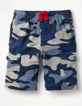 Sea Cadet Blue Camo Jersey Cargo Shorts