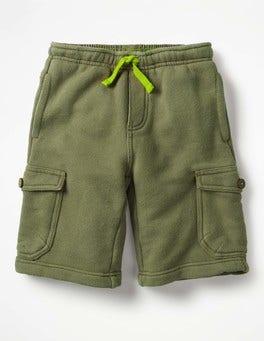 Khaki Jersey Cargo Shorts