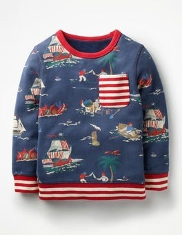 School Navy Pirates Fun Sweatshirt