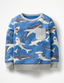 Skipper Sharks Fun Sweatshirt