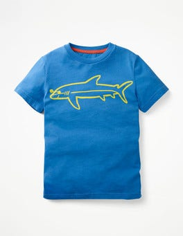 Skipper Blue Shark Shady Animal T-shirt