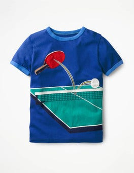 Orion Blue Table Tennis Tipped Sports T-shirt