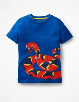 Orion Blue Snake Big Appliqué T-shirt
