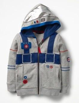 Light Grey Marl Astronaut Astronaut Hoodie