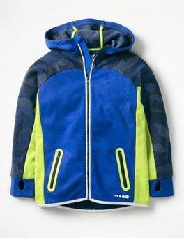 Orion Blue Active Zip-up Hoodie