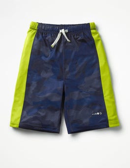 Navy Camo Active Shorts