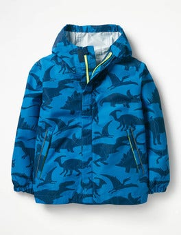 Yogo Blue Dinosaurs Packaway Waterproof Jacket