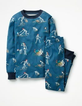 Schooner Blue Captain Bones Glow-in-the-dark Long Pyjamas
