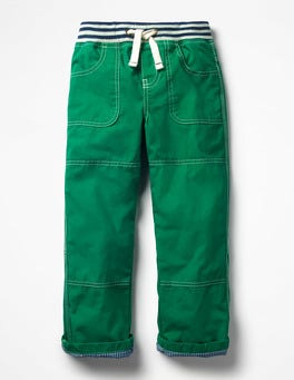 Watercress Green Lined Mariner Trousers