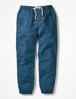 Overboard Blue Lined Woven Joggers