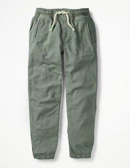 Shrub Green Lined Woven Joggers