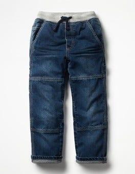 Mid Vintage Rib Waist Carpenter Trousers