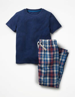 Beacon Blue/Soft Red Pyjama Set