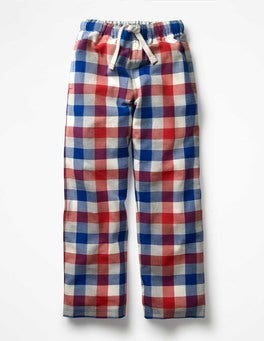 Salsa Red/Blue Gingham Brushed Check Bottoms