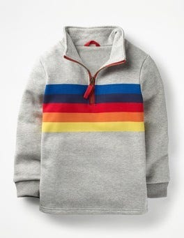 Grey Marl Half-zip Sweatshirt