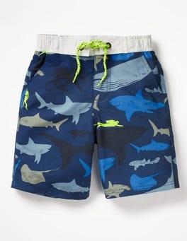 Beacon Blue Shark Dive Board Shorts