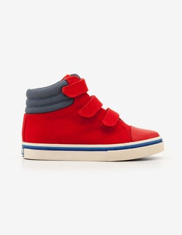 Salsa Red Canvas High Tops