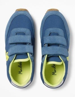 Overboard Blue Suede Trainers