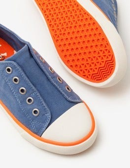 Cadet Blue Laceless Canvas Shoes