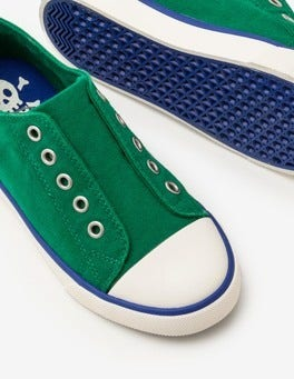 Watercress Green Laceless Canvas Shoes