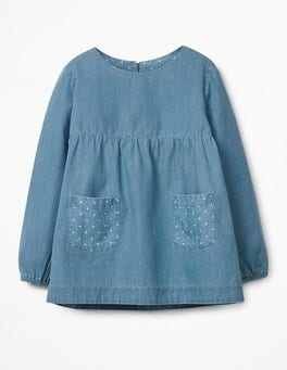 Chambray Floaty Chambray Top