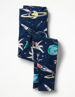 School Navy Space Fun Leggings