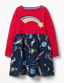 School Navy Space Hotchpotch Jersey Dress