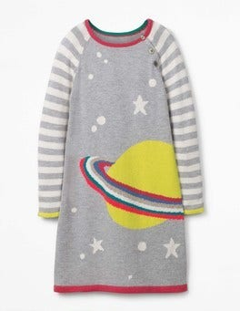Grey Planet Fun Knitted Dress