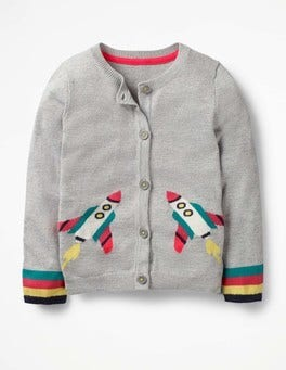 Grey Marl Space Cardigan