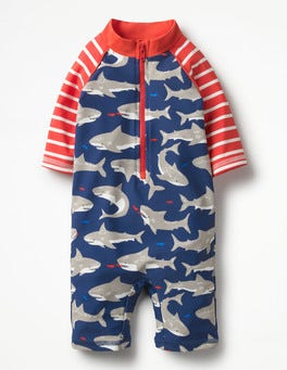 Crayon Red Baby Sharks Animal Surf Suit
