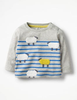 Grey Marl/Skipper Blue Sheep Odd One Out T-shirt