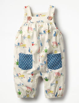 Farmyard Animals Jersey Dungarees