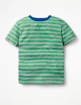 Watercress Green/Grey Marl Slub Washed T-shirt