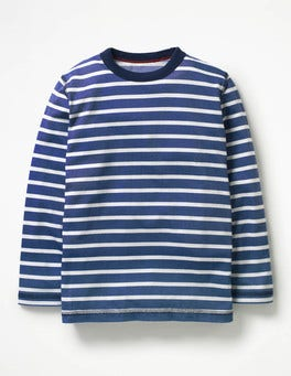 Beacon Blue/Ecru Supersoft T-shirt