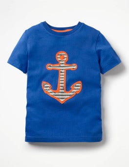 Orion Blue Anchor Pirate Appliqué T-shirt