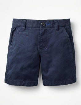 School Navy Chino Shorts