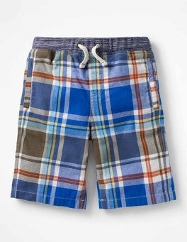 Khaki Green/Skipper Blue Rib Waist Shorts